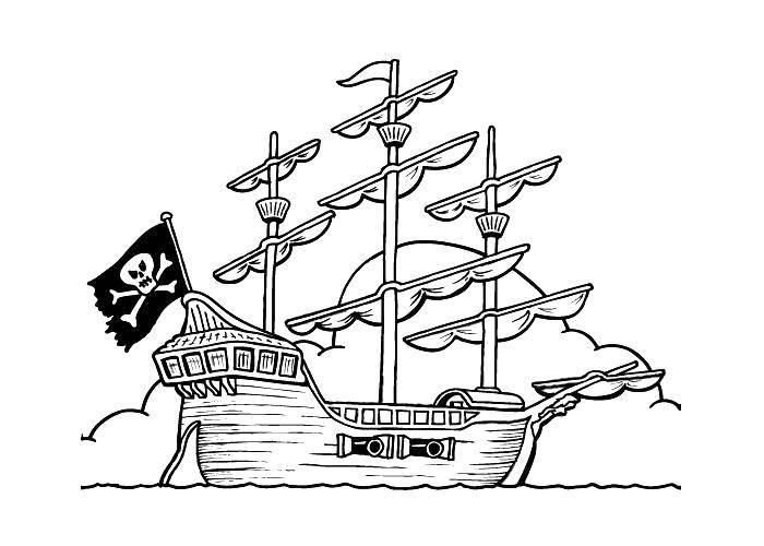 Раскраска Пираты Скачать Спорт, гимнастика.  Распечатать ,гимнастика,