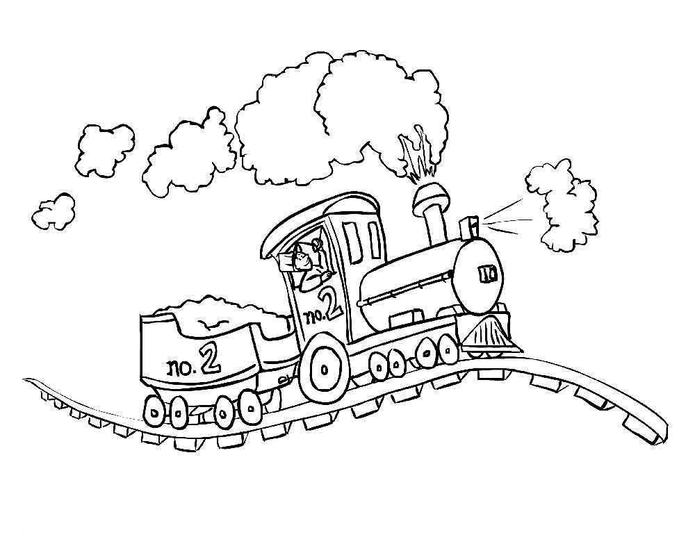 Раскраска поезд Скачать Сказки.  Распечатать ,Сказки,
