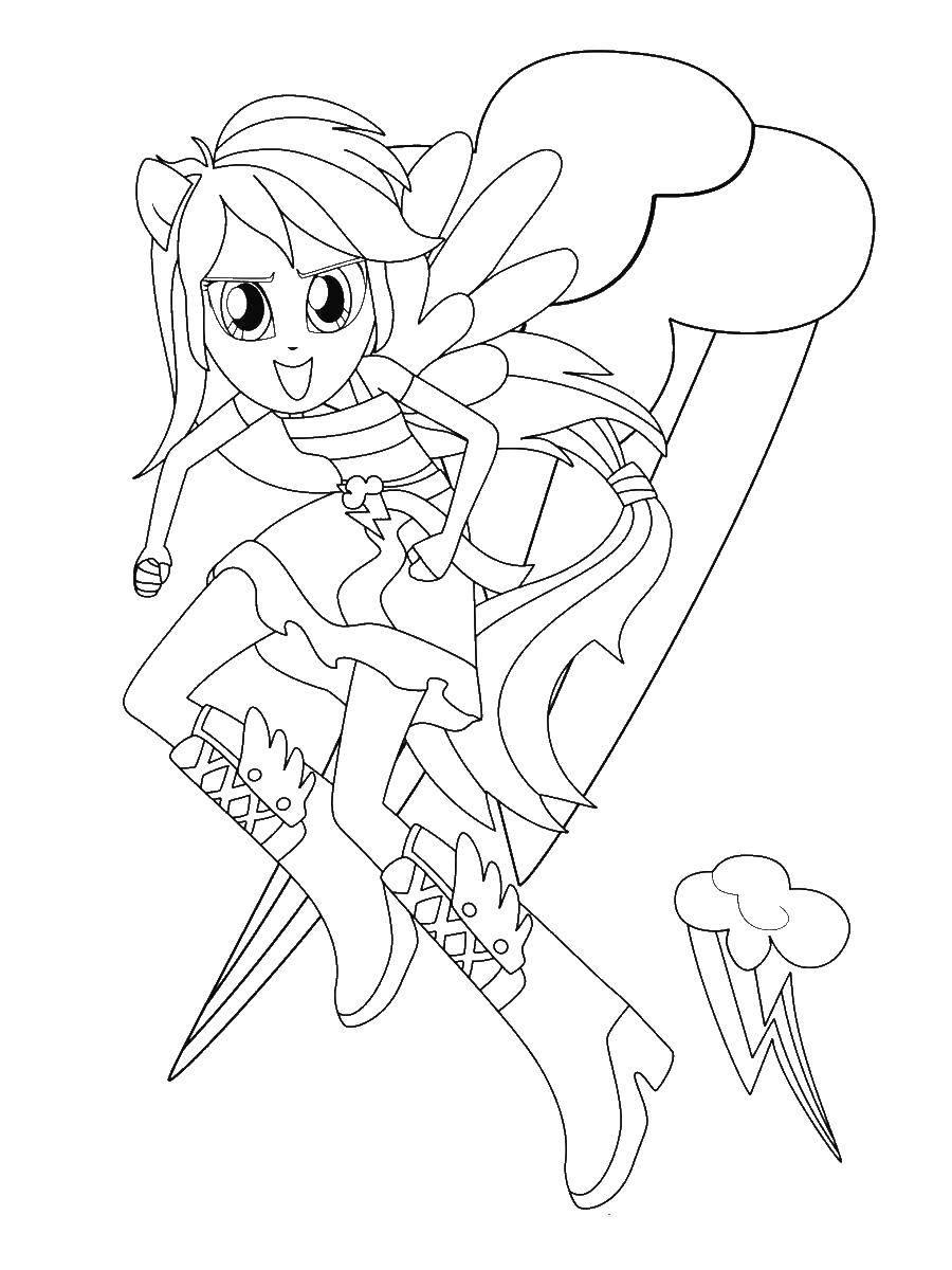 Раскраска мой маленький пони Скачать Монстер Хай.  Распечатать ,школа монстров,