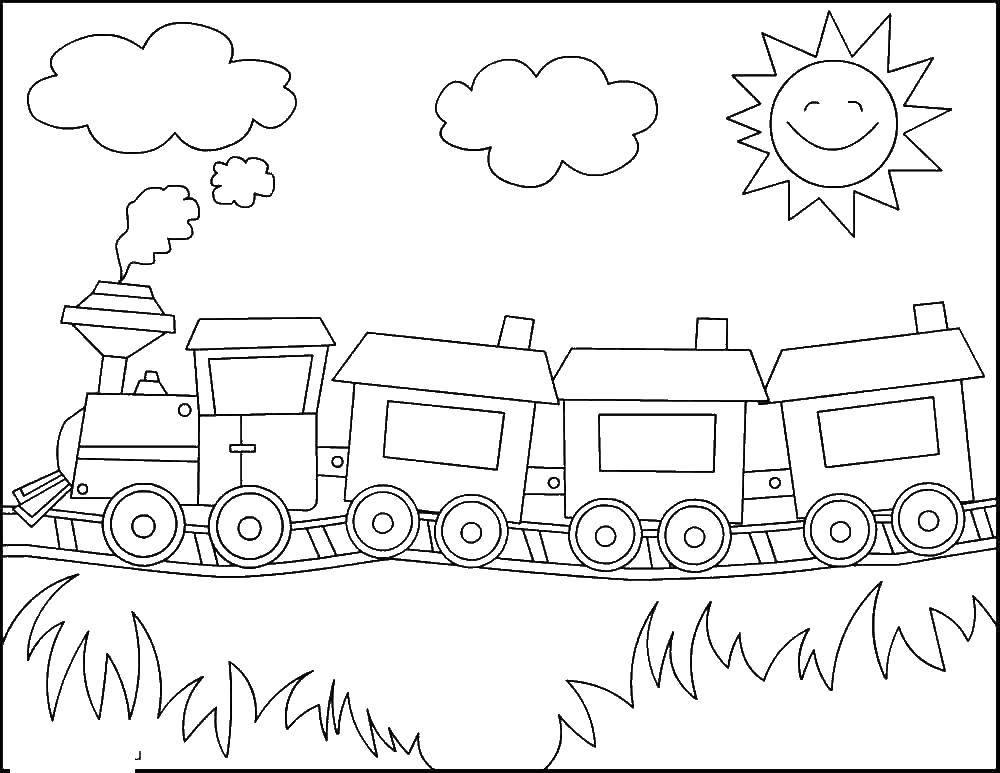 Раскраска поезд Скачать единорог, крылья, корона.  Распечатать ,раскраски,