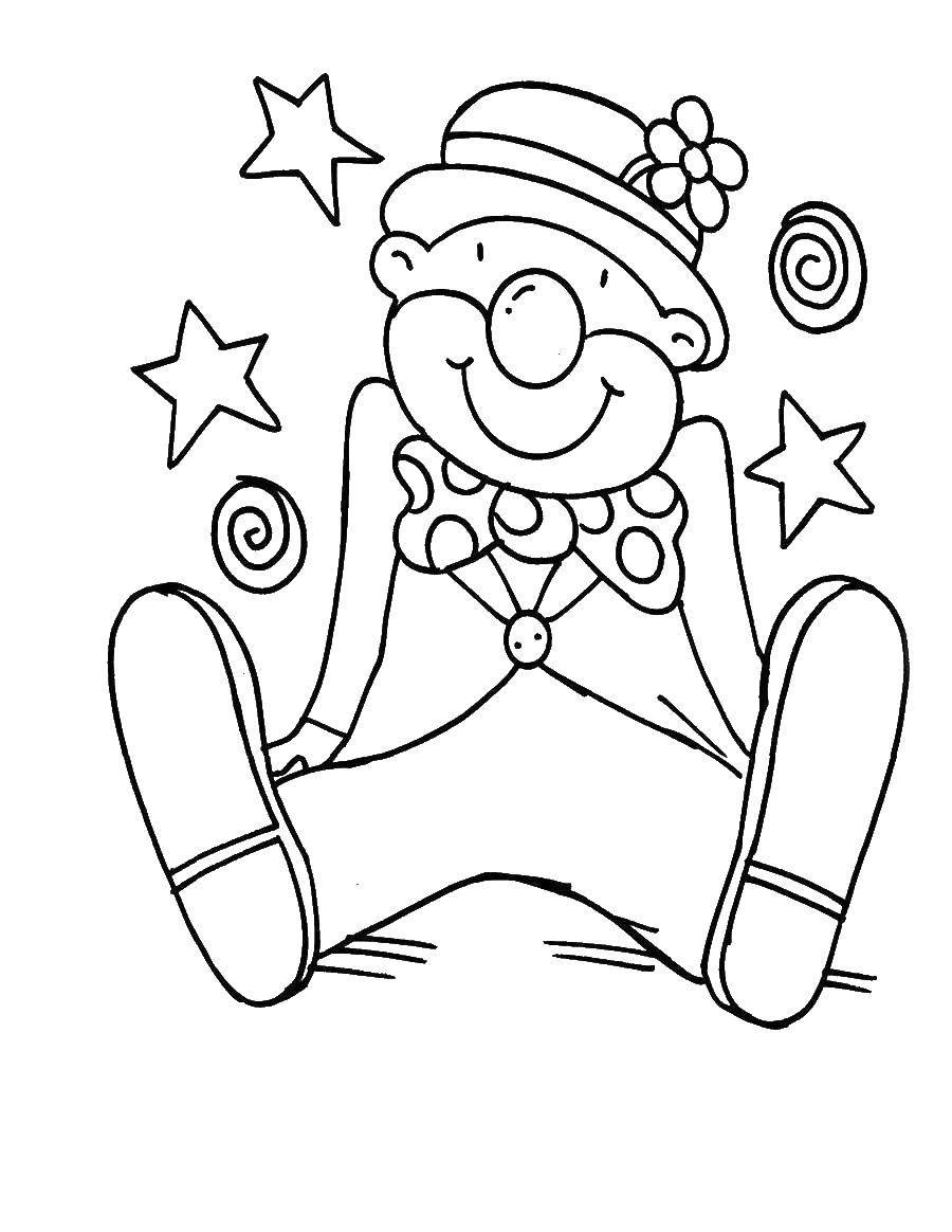 Раскраска Клоуны Скачать ,найди отличия, дома, бобренок,.  Распечатать