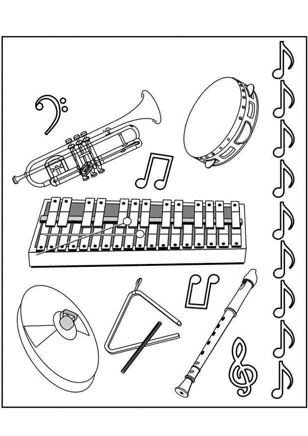 Раскраска музыкальные инструменты Скачать ,Клоун, цирк, радость, печаль,.  Распечатать