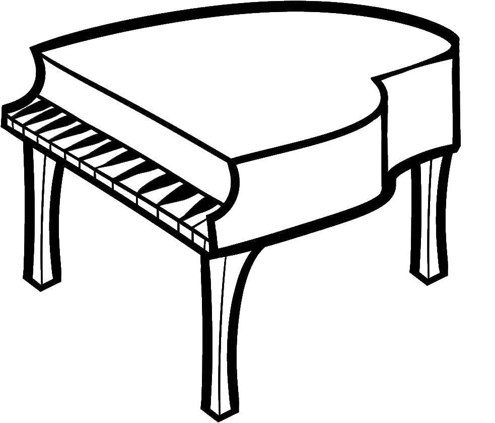 Раскраска музыкальные инструменты Скачать ,математическая раскраска, слон,.  Распечатать