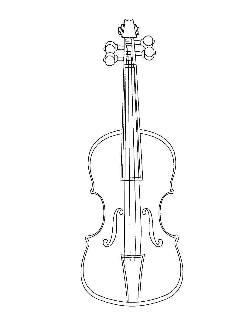 раскраски раскраска скрипка скачать распечатать раскраски