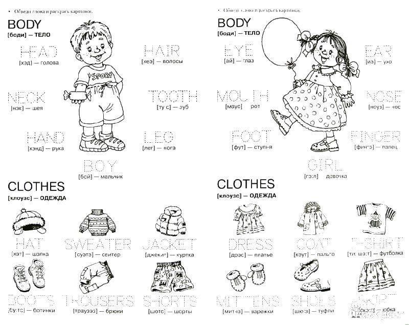 Раскраска Разное Скачать ,body, clothes, boy, girl,.  Распечатать