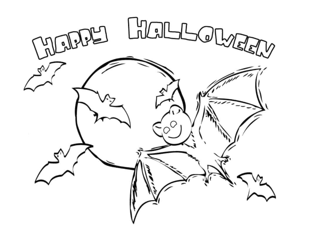 Раскраска Хэллоуин Скачать .  Распечатать
