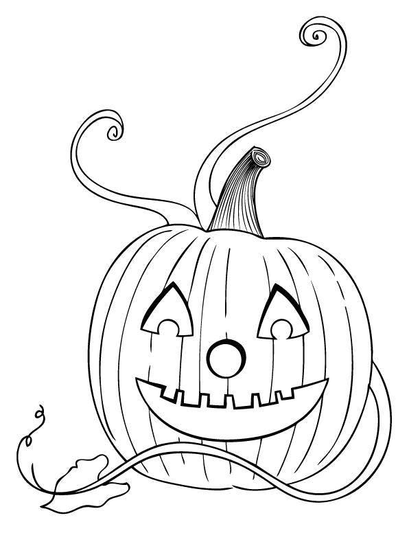 Раскраска Красивая тыква Скачать Хэллоуин, тыква.  Распечатать ,Хэллоуин,