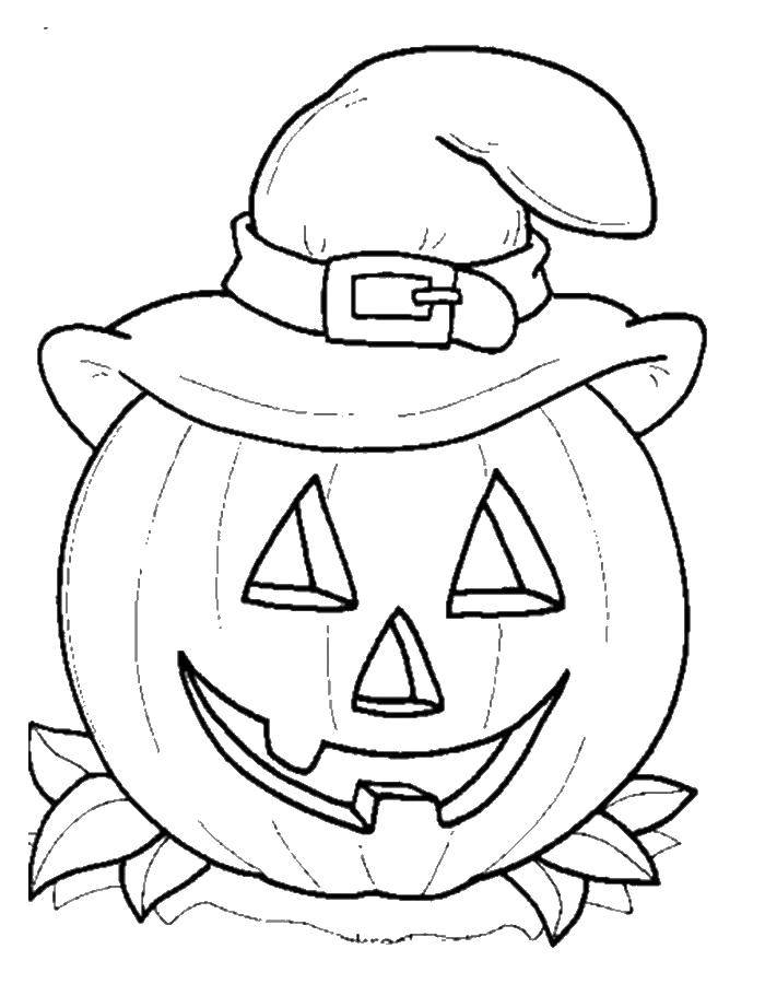 Раскраска Тыква на хэллуин Скачать Хэллоуин.  Распечатать ,Хэллоуин,
