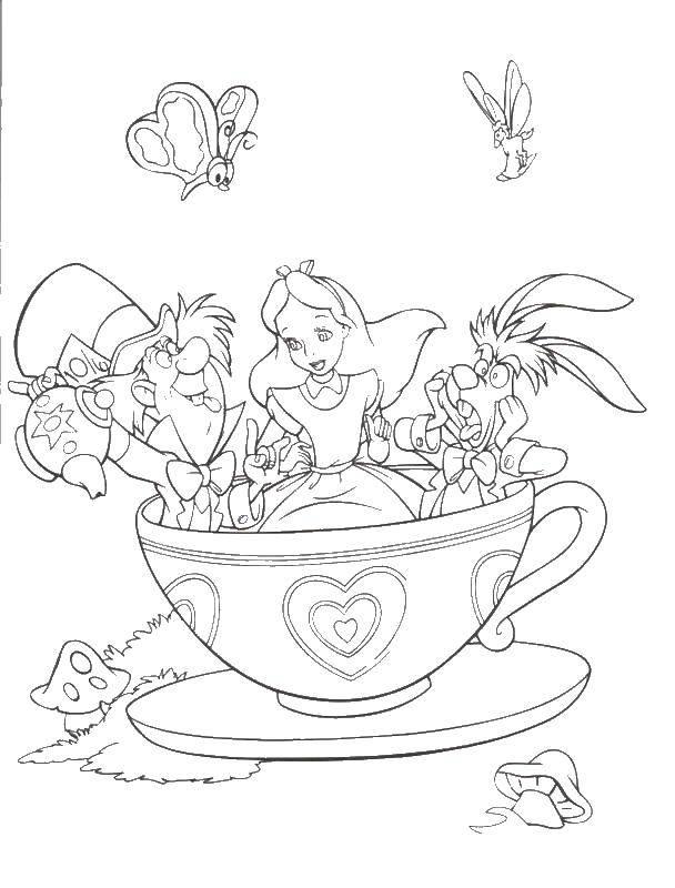 Раскраска Диснеевские мультфильмы Скачать загадка, на мышление, логика, отличия, автобус.  Распечатать ,раскраски найди отличия,