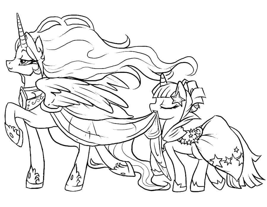 Раскраска Принцесса селестия Скачать пони, Селестия.  Распечатать ,мой маленький пони,