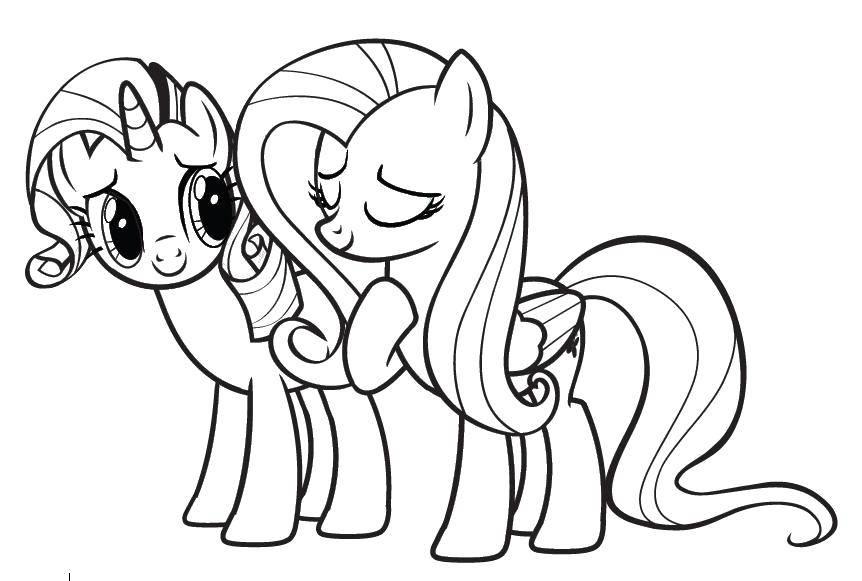 """Раскраска Поняшки - подружки Скачать Пони, """"My little pony"""".  Распечатать ,мой маленький пони,"""