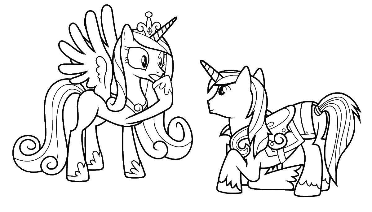Раскраска мой маленький пони Скачать ,логика,игрушки, спорт,.  Распечатать