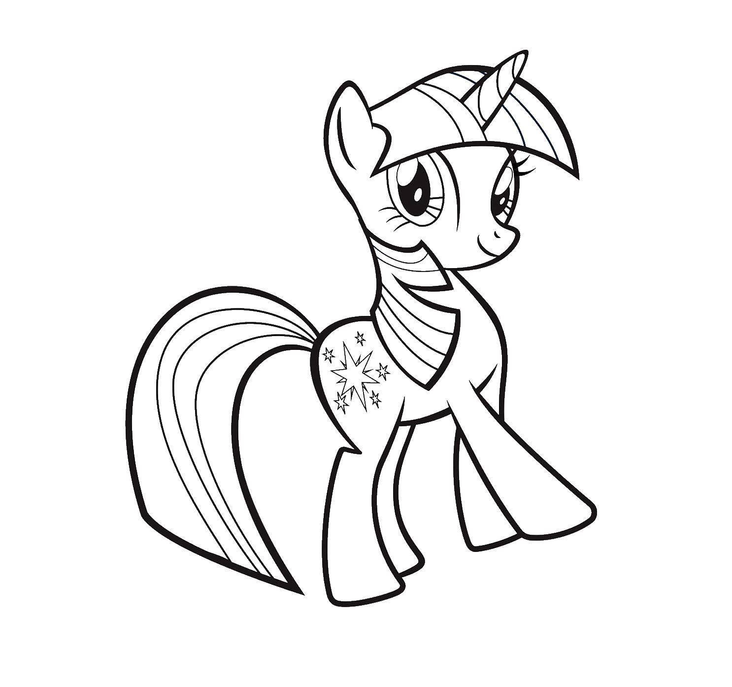 """Раскраска Красивая пони Скачать Пони, """"My little pony"""".  Распечатать ,мой маленький пони,"""