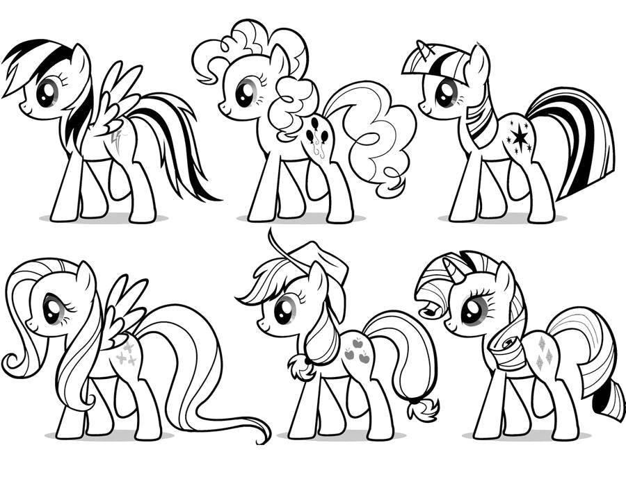 """Раскраска Персонажи из my little pony Скачать Пони, """"My little pony"""".  Распечатать ,мой маленький пони,"""