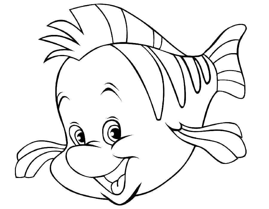 """Раскраска Рыбка из в поисках нэмо Скачать Дисней, """"В поисках Нэмо"""".  Распечатать ,Диснеевские мультфильмы,"""