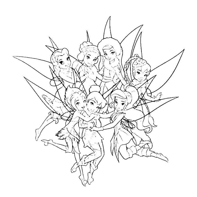 Раскраска феи Скачать Семья, родители, дети.  Распечатать ,Семейное дерево,