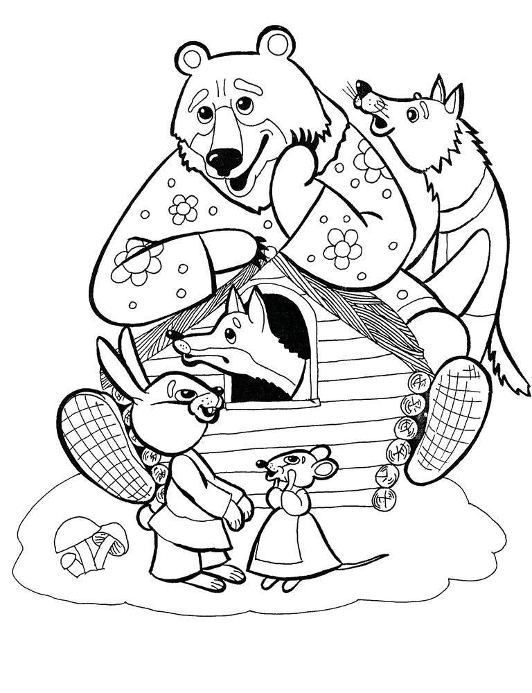 Раскраска сказка теремок Скачать Персонаж из мультфильма, Бен Тен.  Распечатать ,Персонаж из мультфильма,