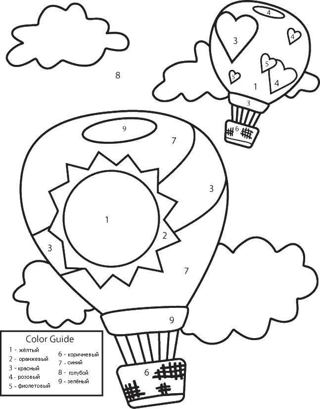 Раскраска Воздушные шары Скачать Воздушныешары.  Распечатать ,Раскраски для малышей,