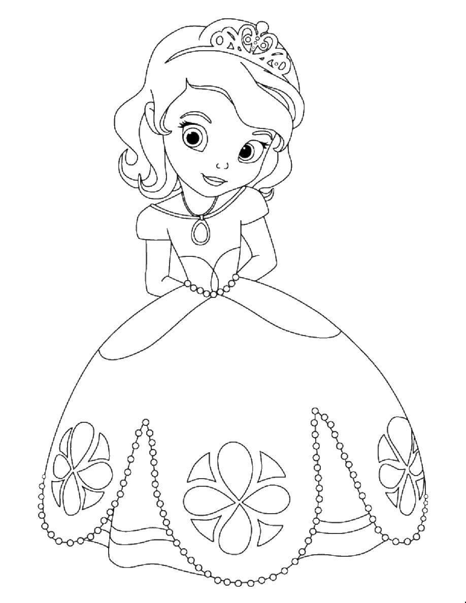Раскраска Принцесса софия Скачать Принцесса София.  Распечатать ,Принцессы,