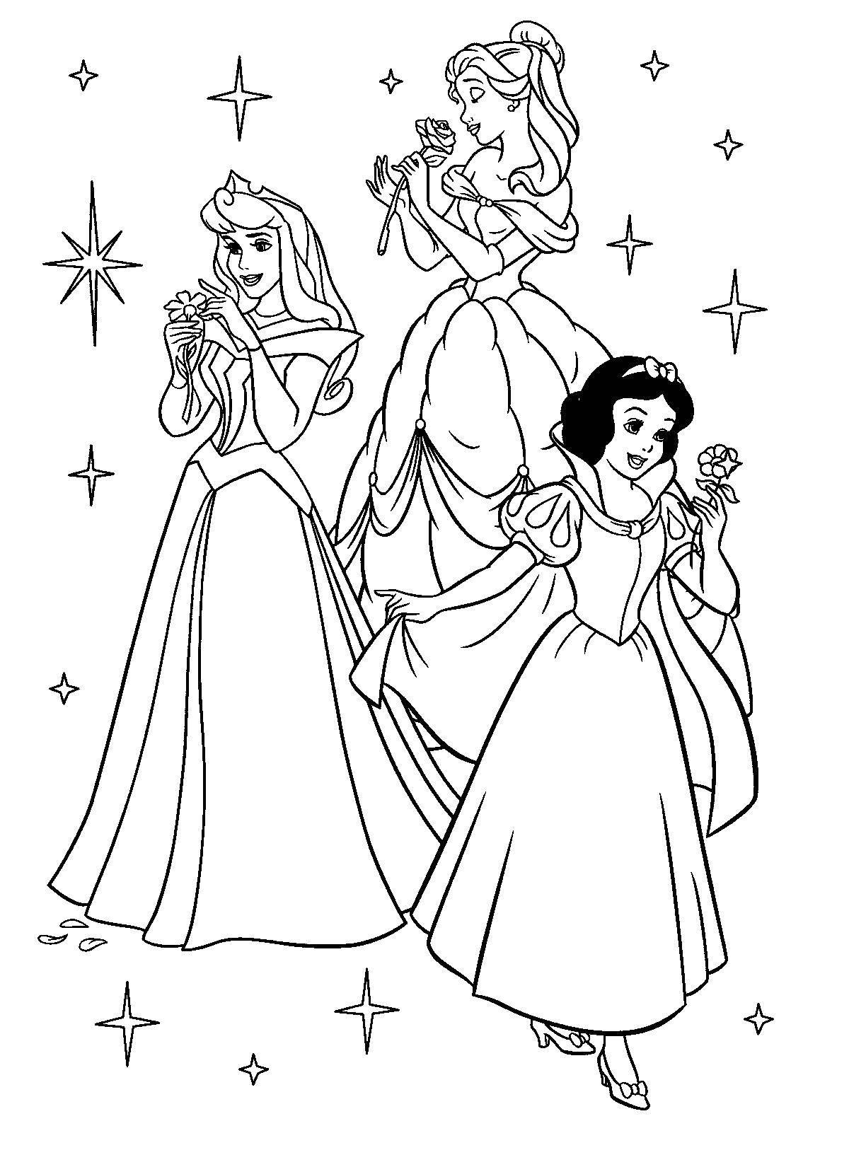 Раскраска Принцессы диснея Скачать принцессы.  Распечатать ,Принцессы,
