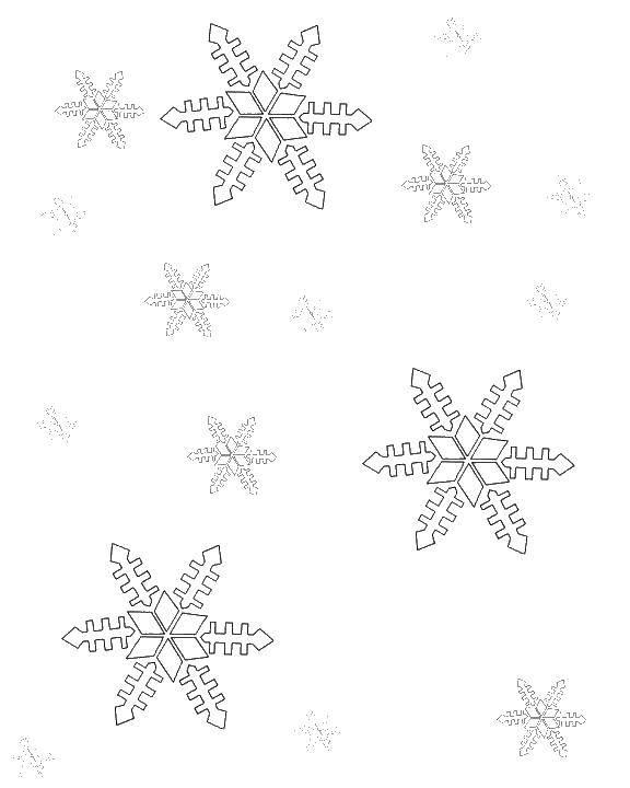 Раскраска Снежинки Скачать снежинки.  Распечатать ,фигуры,