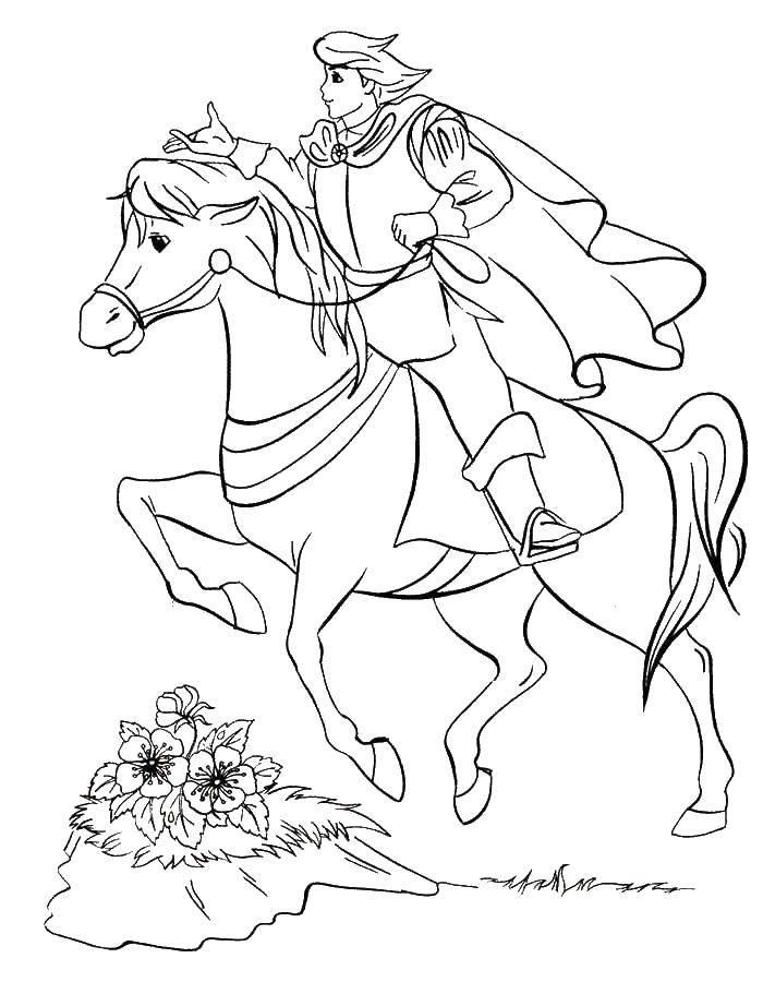 Раскраска Всадник на коне Скачать Рыцарь. воин.  Распечатать ,Рыцари,