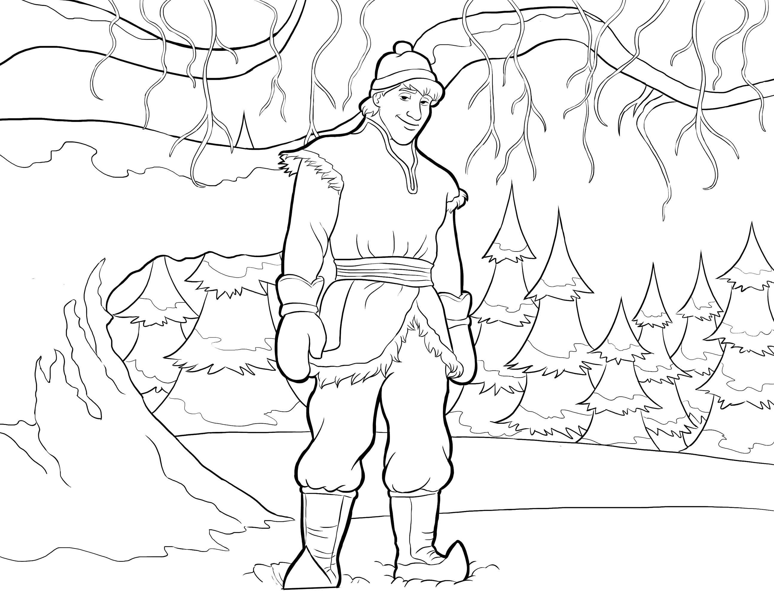 Раскраска Персонаж из мультфильма холодное сердце Скачать Дисней, Эльза, Холодное сердце, принцесса.  Распечатать ,раскраски холодное сердце,