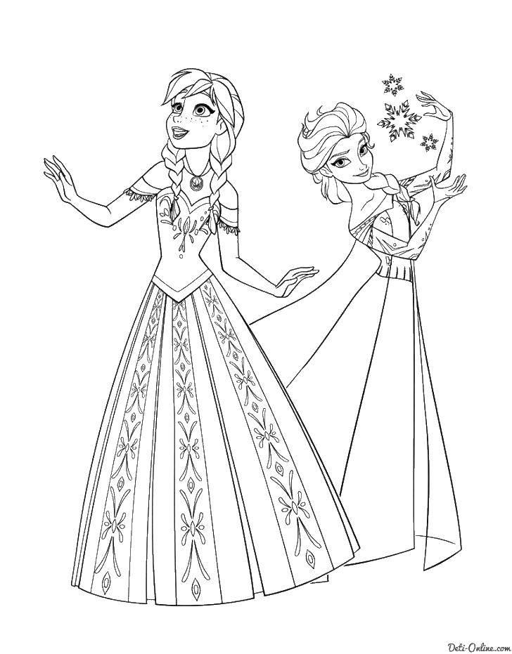Раскраска раскраски холодное сердце Скачать принцессы, мультфильмы, сказки, Белоснежка.  Распечатать ,белоснежка,