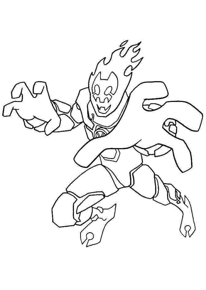 Раскраска Злодей из мультфильма бен тен Скачать Персонаж из мультфильма, Бен Тен.  Распечатать ,бен тен,