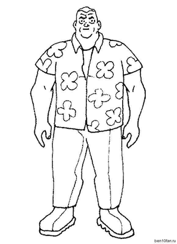 раскраски дедушка раскраска дедушка макс персонаж из