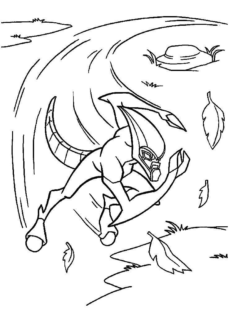 Раскраска Персонаж из мультфильма бен тен Скачать Персонаж из мультфильма, Бен Тен.  Распечатать ,Персонаж из мультфильма,
