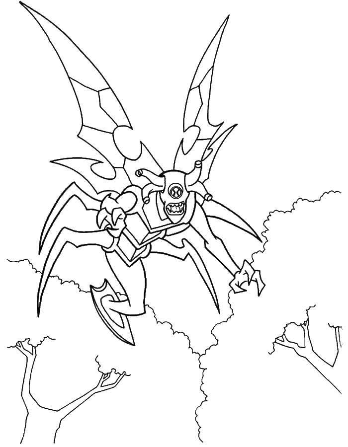 Раскраска бен тен Скачать дракон, аниме.  Распечатать ,Драконы,