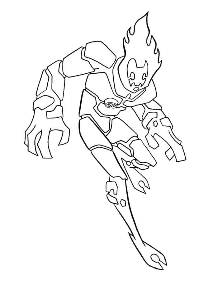 Раскраска Персонаж из мультфильма бен тен Скачать Персонаж из мультфильма, Бен Тен.  Распечатать ,для мальчиков,