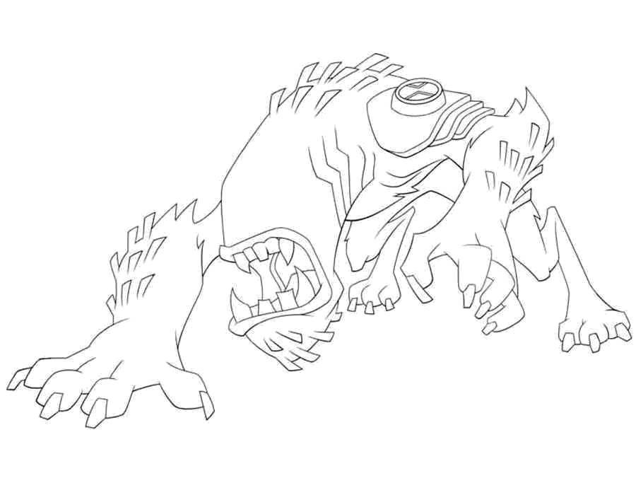 Раскраска Персонаж из мультфильма бен тен Скачать Персонаж из мультфильма, Бен Тен.  Распечатать ,бен тен,