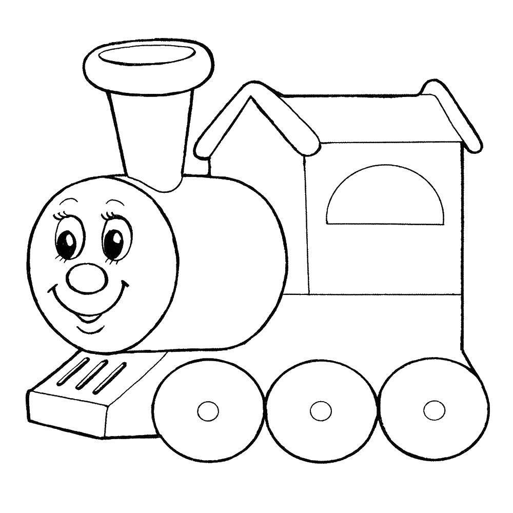 Раскраска Поезд Скачать , поезд, .  Распечатать ,мультики,