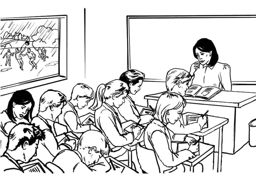 Раскраска школа Скачать майнкрафт, люди.  Распечатать ,майнкрафт,
