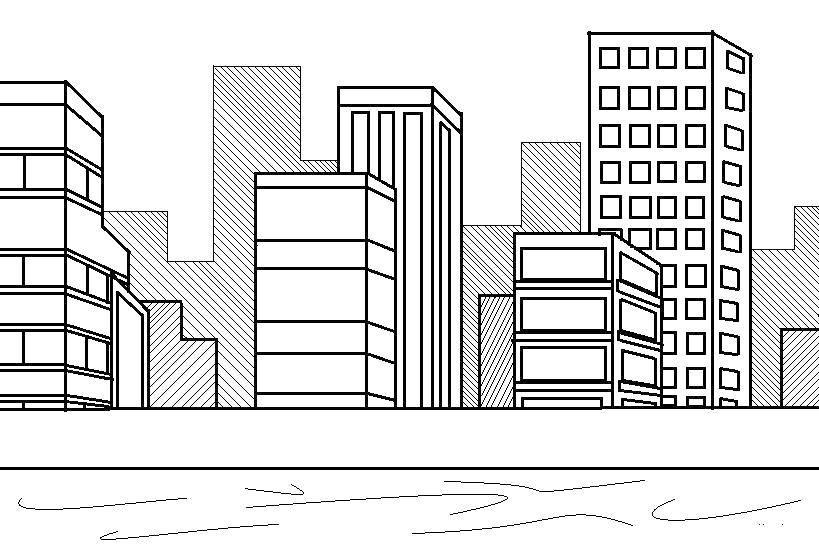 Раскраска город Скачать бэтмен, плащ, маска.  Распечатать ,супергерои,