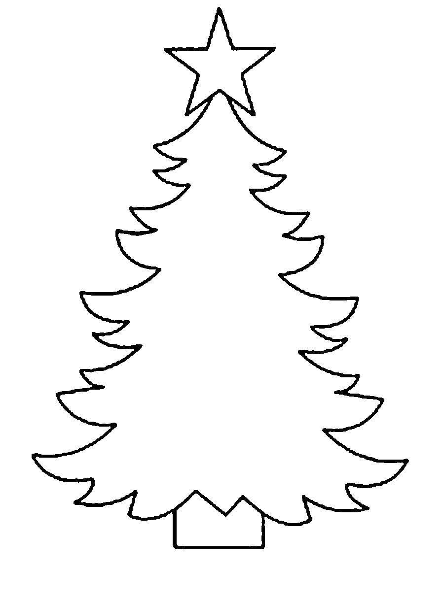 Раскраска Контур елки Скачать елка.  Распечатать ,раскраски елки,
