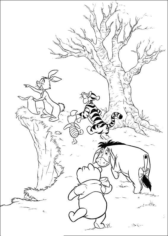 """Раскраска Персонаж из мультфильма винни пух Скачать Персонаж из мультфильма, """"Винни Пух"""".  Распечатать ,Персонаж из мультфильма,"""