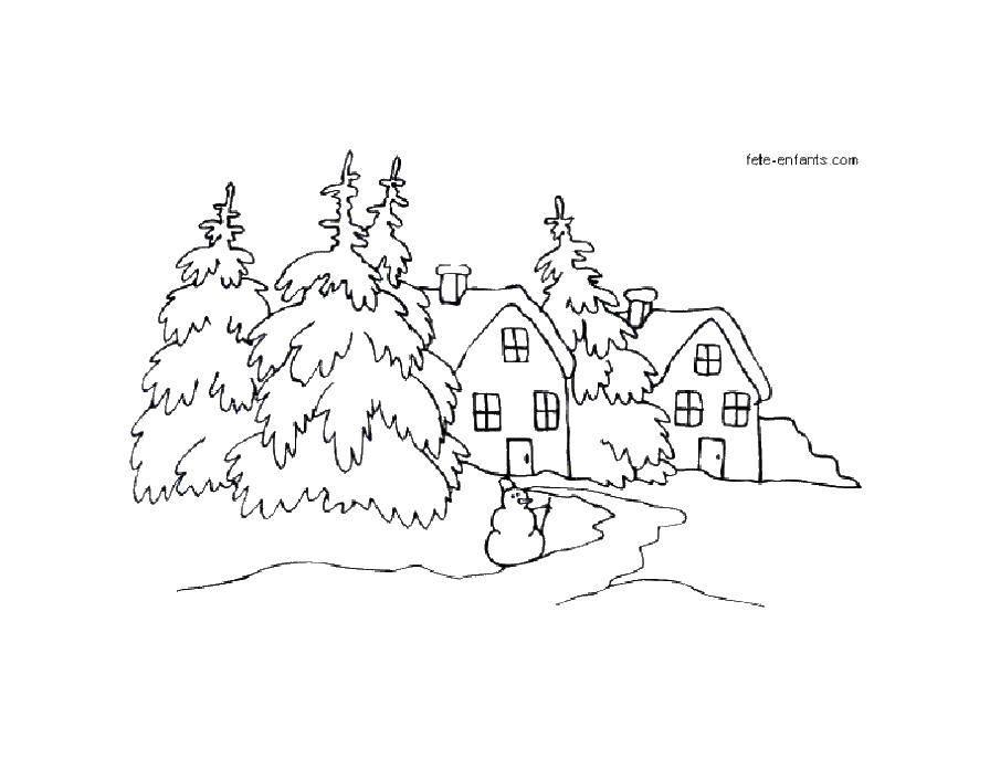 Раскраска  Скачать снеговик, зима.  Распечатать ,новый год,