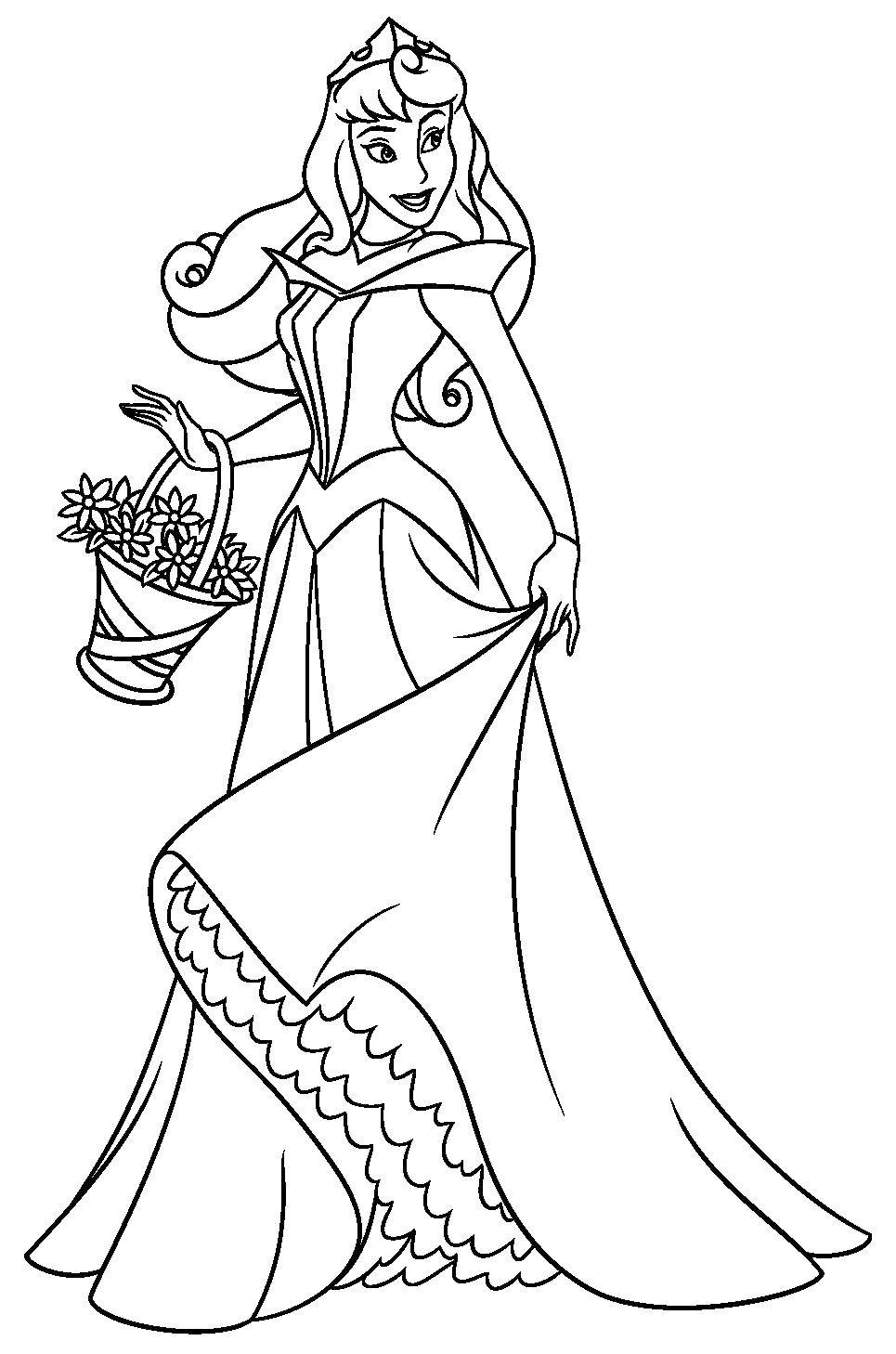 Название: Раскраска Красавица аврора. Категория: спящая красавица. Теги: Дисней, Спящая красавица.