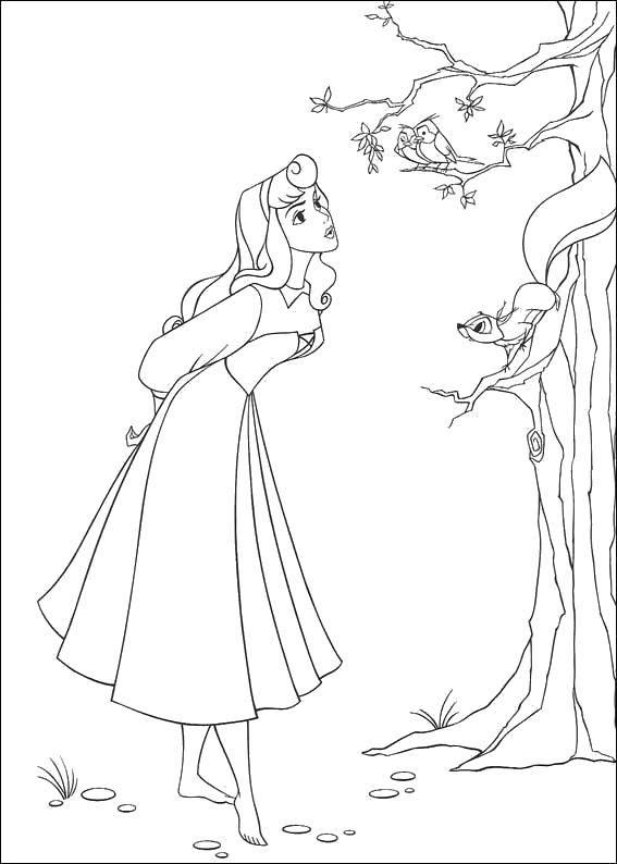 Раскраска Спящая красавица из диснеевкого мультфильма Скачать Дисней, Спящая красавица.  Распечатать ,спящая красавица,