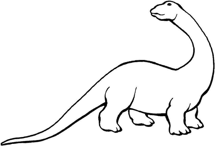Раскраска динозавр Скачать ,математическая раскраска, слон,.  Распечатать