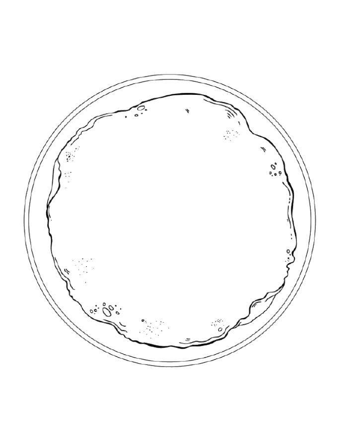 Раскраска Блинчик на тарелке Скачать Масленица, блины.  Распечатать ,масленица раскраски,