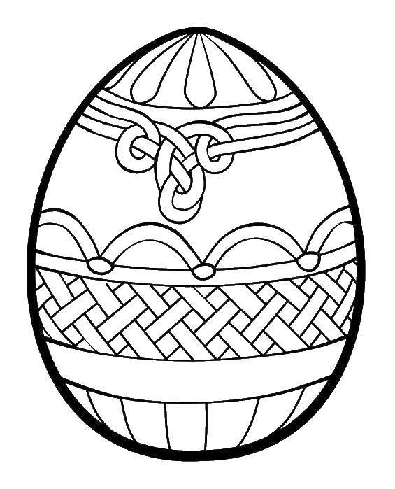 Раскраска пасхальные яйца Скачать ,Дисней, Утиные Истории, Понка,.  Распечатать