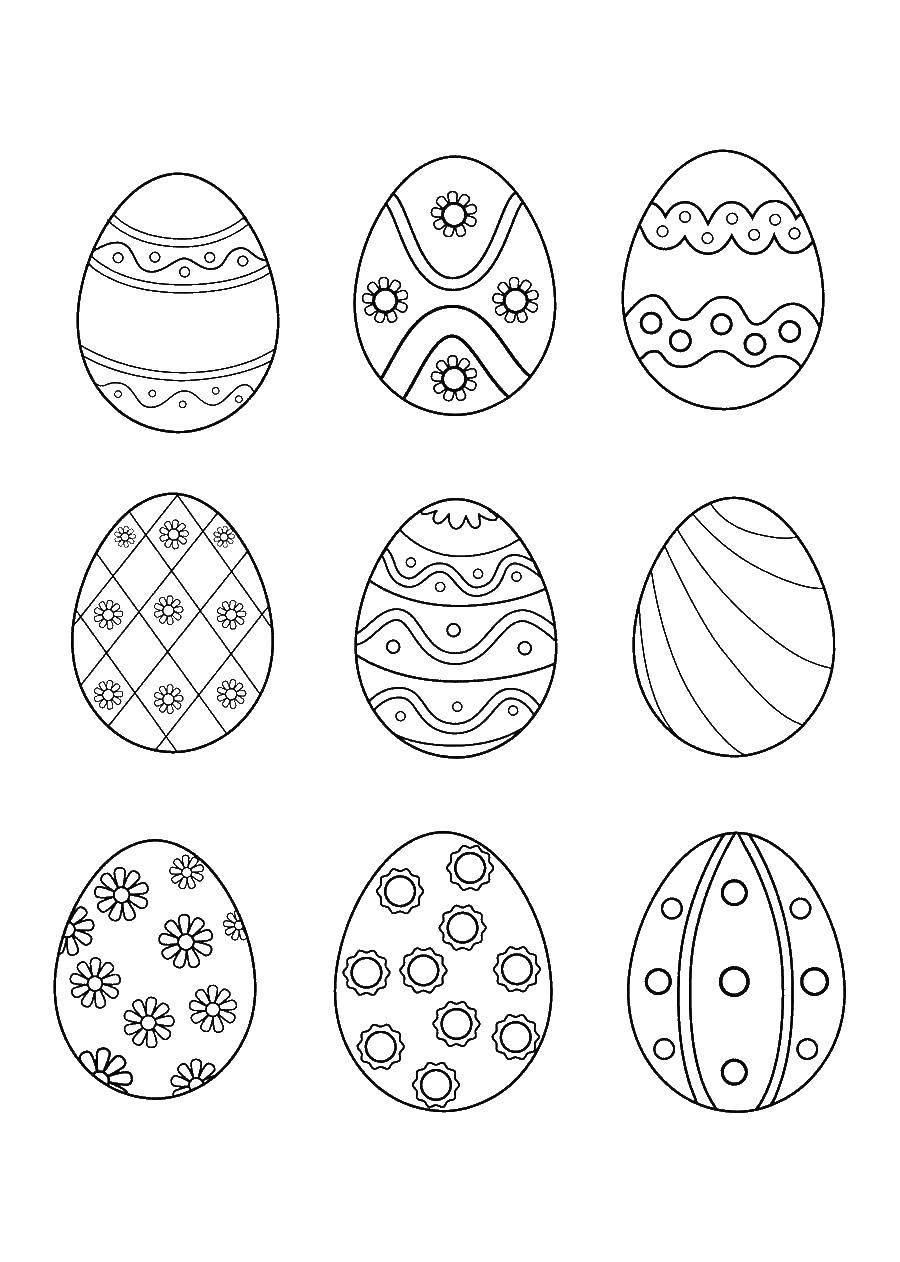 Раскраска пасхальные яйца Скачать Антистресс.  Распечатать ,раскраски антистресс,