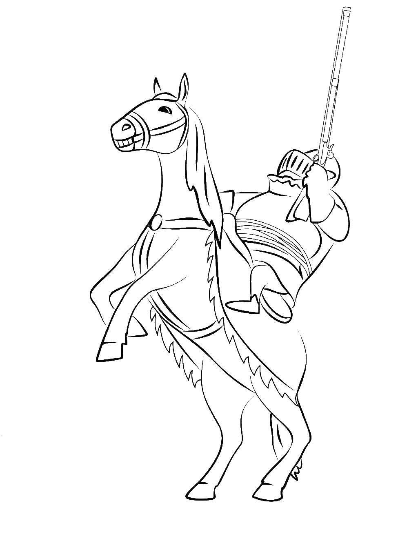Раскраска Король на коне Скачать Король, конь. воин, рыцарь.  Распечатать ,Рыцари,