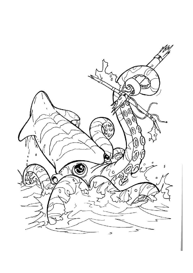 Раскраска Пираты Скачать динозавры, любовь.  Распечатать ,динозавр,