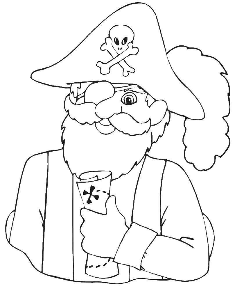 Раскраска Пираты Скачать еда, хот дог.  Распечатать ,Еда,