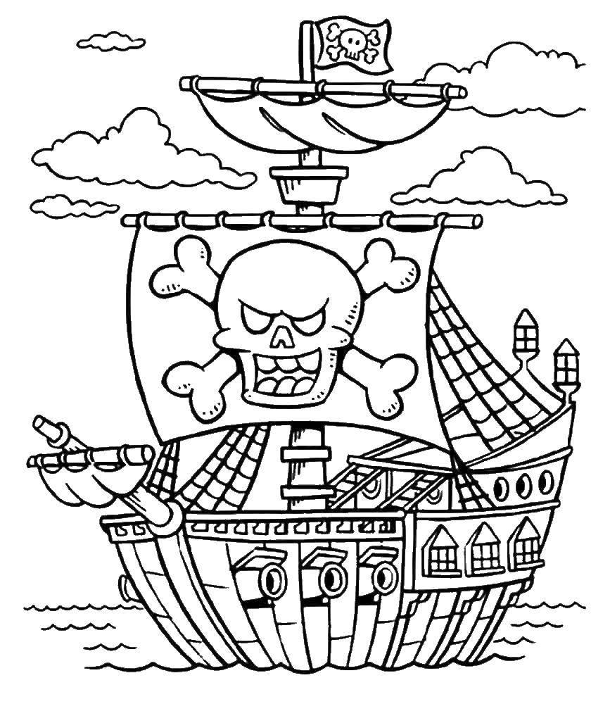 раскраски пушка раскраска пиратский корабль с пушками пираты